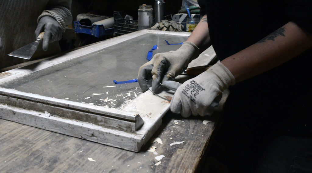 Workbench with hands