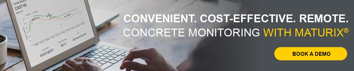 Convenient. Cost-Effective. Remote. Concrete monitoring with Maturix. Book a demo today!